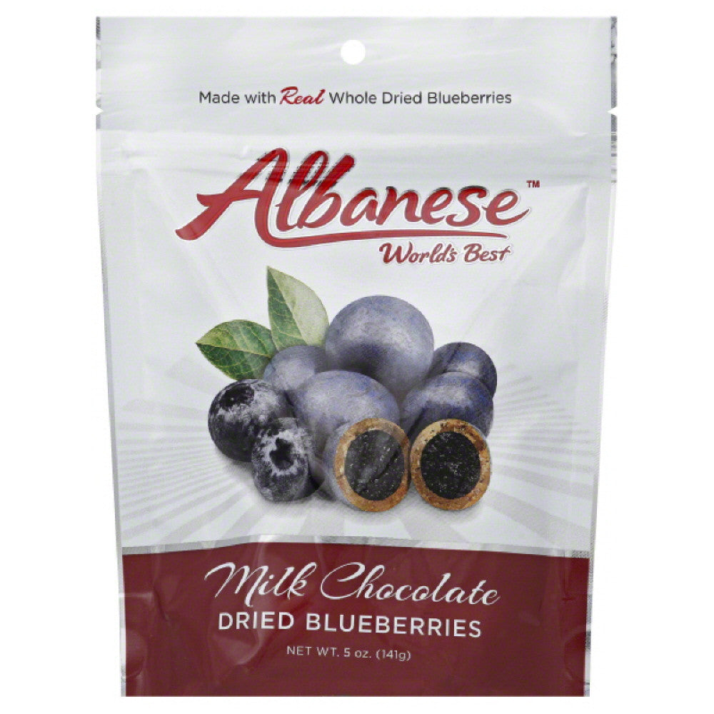 Albanese  Milk Chocolate Dried Blueberries, 5 Oz (Pack of 6)