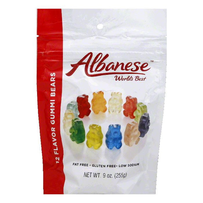 Albanese  12 Flavor Gummi Bears, 9 Oz (Pack of 6)