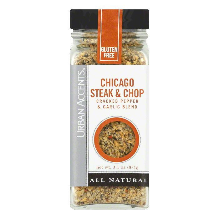 Urban Accents Chicago Steak & Chop Seasoning, 3.1 OZ (Pack of 4)