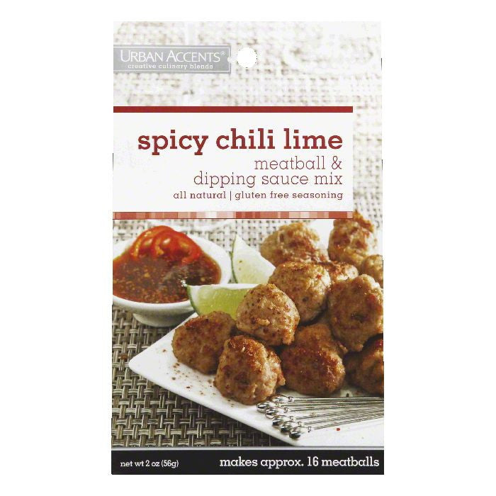 Urban Accents Spicy Chili Lime Meatball & Dipping Sauce Mix, 2 OZ (Pack of 6)