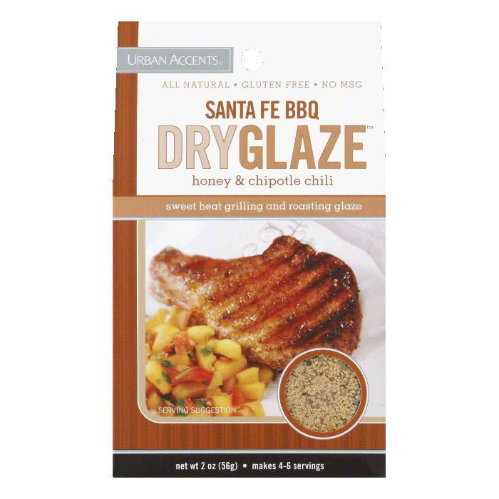 Urban Accents Honey & Chipotle Chili Santa Fe BBQ Dry Glaze, 2 Oz (Pack of 6)
