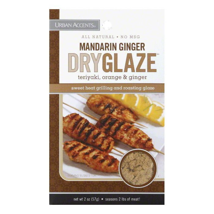 Urban Accents Mandarin Ginger Dryglaze Seasoning, 2 OZ (Pack of 6)