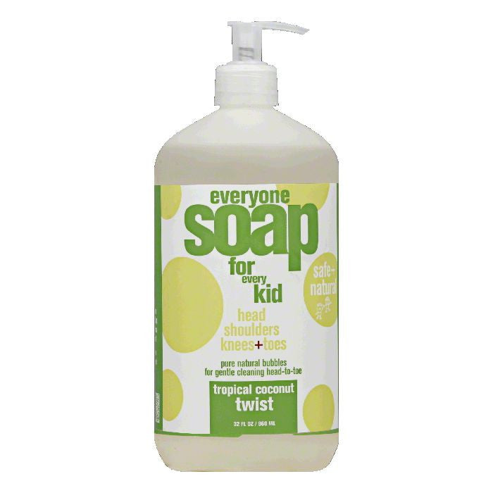 Everyone Tropical Coconut Twist for Every Kid Soap, 32 Oz