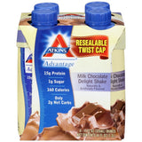Atkins Advantage Milk Chocolate Delight Shakes 4-11 fl. Oz Aseptic Cartons (Pack of 6)