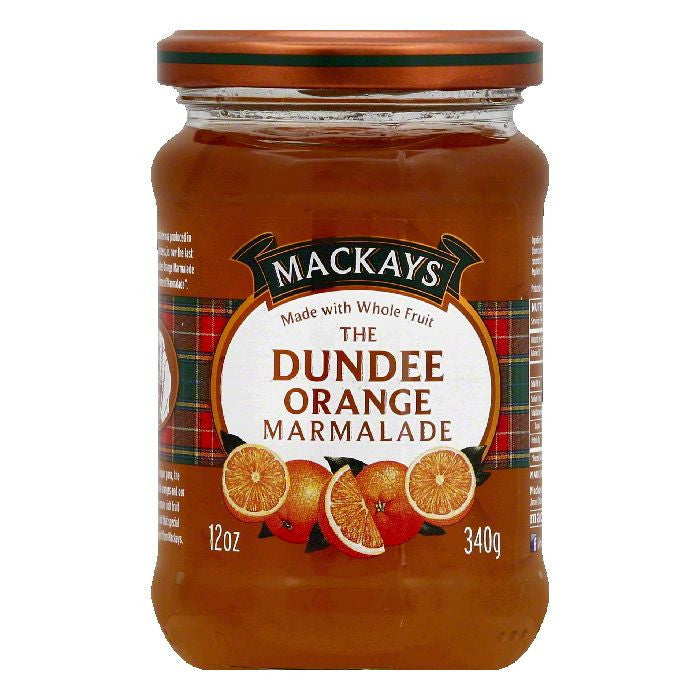Mackays The Dundee Orange Marmalade, 12 OZ (Pack of 6)