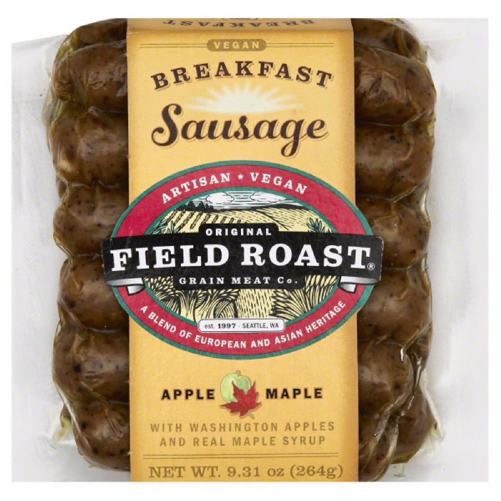 Field Roast Apple Maple Breakfast Sausage, 9.31 Oz (Pack of 12)