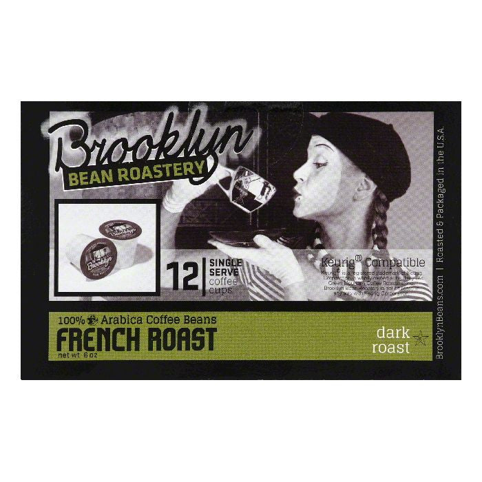Brooklyn Bean Roastery French Roast Single Serve Dark Roast Coffee Cups, 12 PC (Pack of 6)
