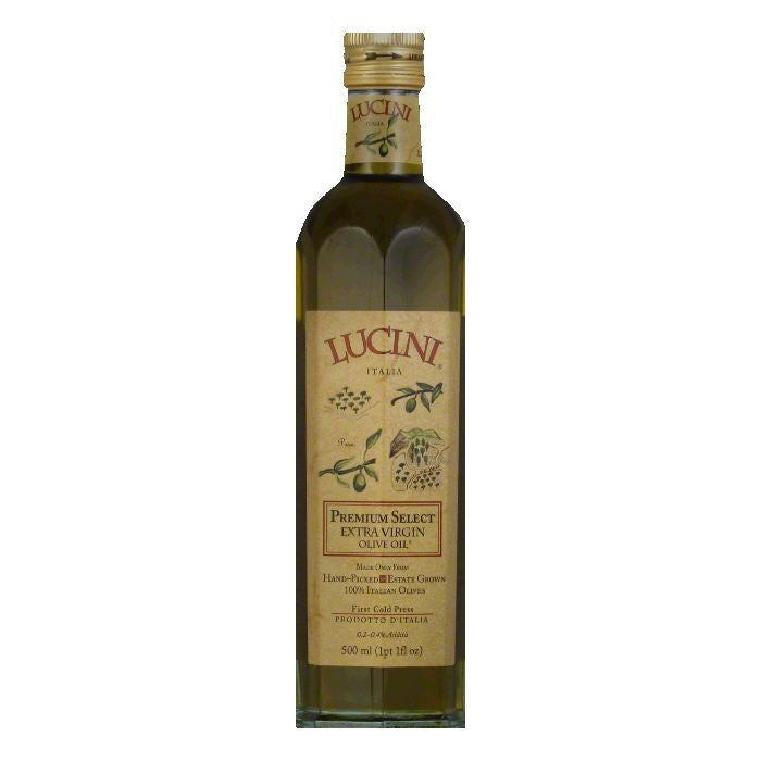 Lucini Olive Oil Extra Virgin Premium Select, 17 OZ (Pack of 6)