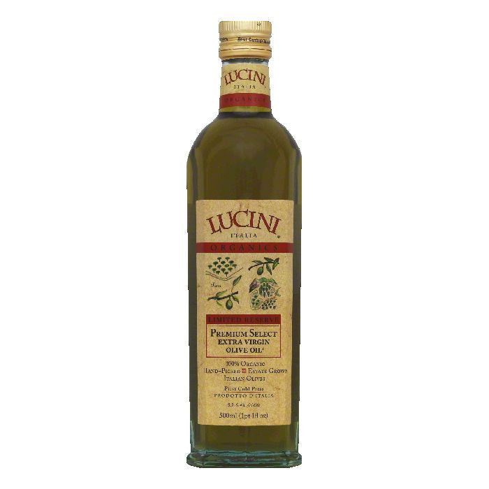Lucini Olive Oil Organic Extra Virgin, 17 OZ (Pack of 6)