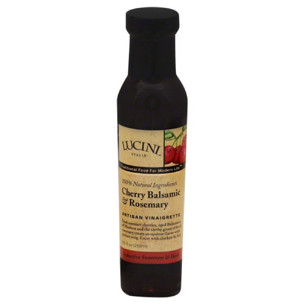 Lucini Cherry Balsamic & Rosemary Artisan Vinaigrette, 8.5 Oz (Pack of 6)