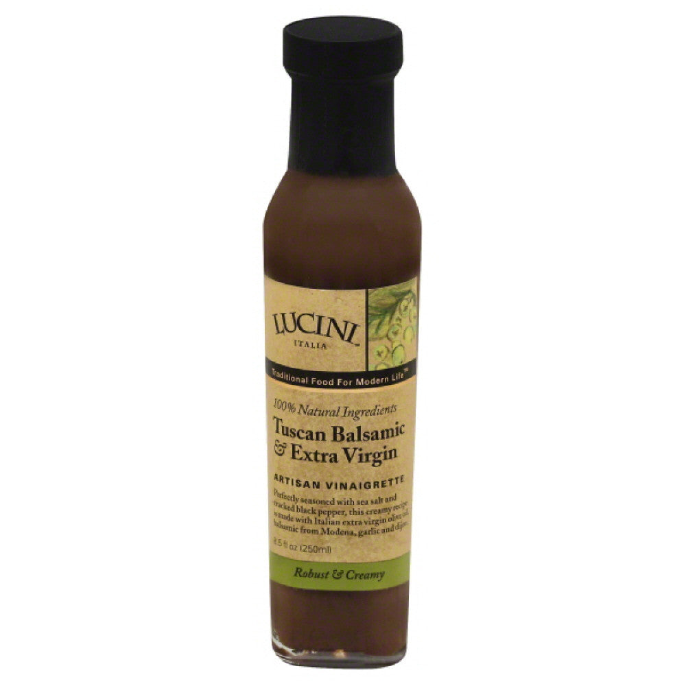 Lucini Tuscan Balsamic & Extra Virgin Artisan Vinaigrette, 8.5 Oz (Pack of 6)