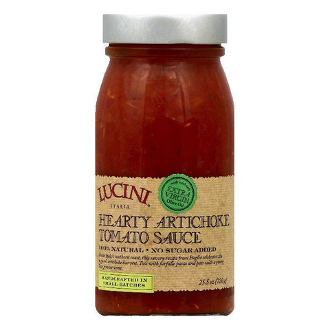 Lucini Hearty Artichoke Tomato Sauce, 25.5 OZ (Pack of 6)