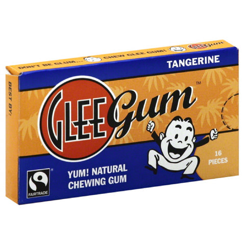Glee Gum Tangerine Chewing Gum, 16 Pc (Pack of 12)