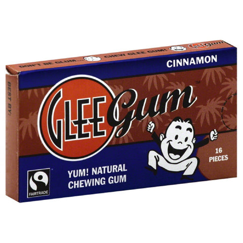 Glee Gum Cinnamon Chewing Gum, 16 Pc (Pack of 12)