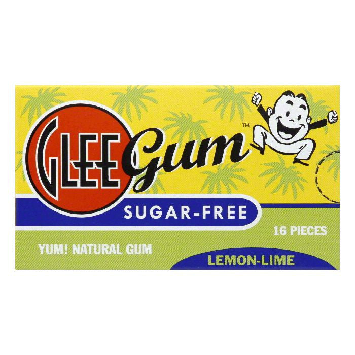 Glee Gum Gum Sugar Free Lemon Lime, 16 PC (Pack of 12)