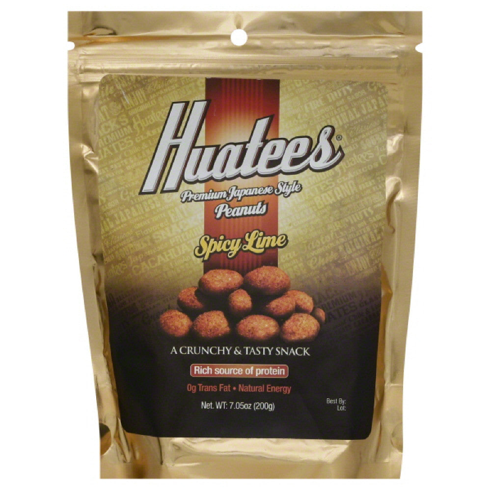 Huatees Spicy Lime Premium Japanese Style Peanuts, 7.05 Oz (Pack of 6)