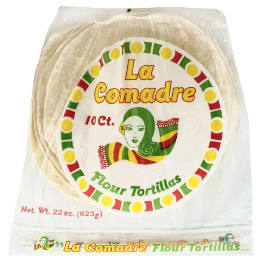 La Comadre Flour Tortillas, 22 Oz (Pack of 12)