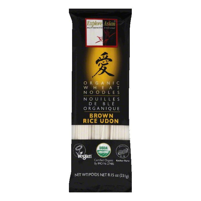 Explore Asian Brown Rice Udon Organic Wheat Noodles, 8.15 Oz (Pack of 10)