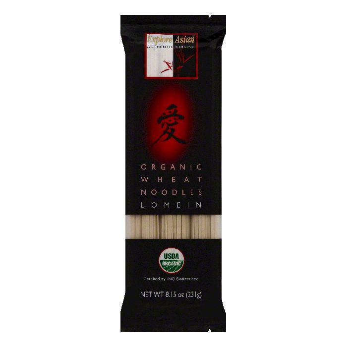 Explore Asian Lo Mein Organic Wheat Noodles, 8.15 OZ (Pack of 10)