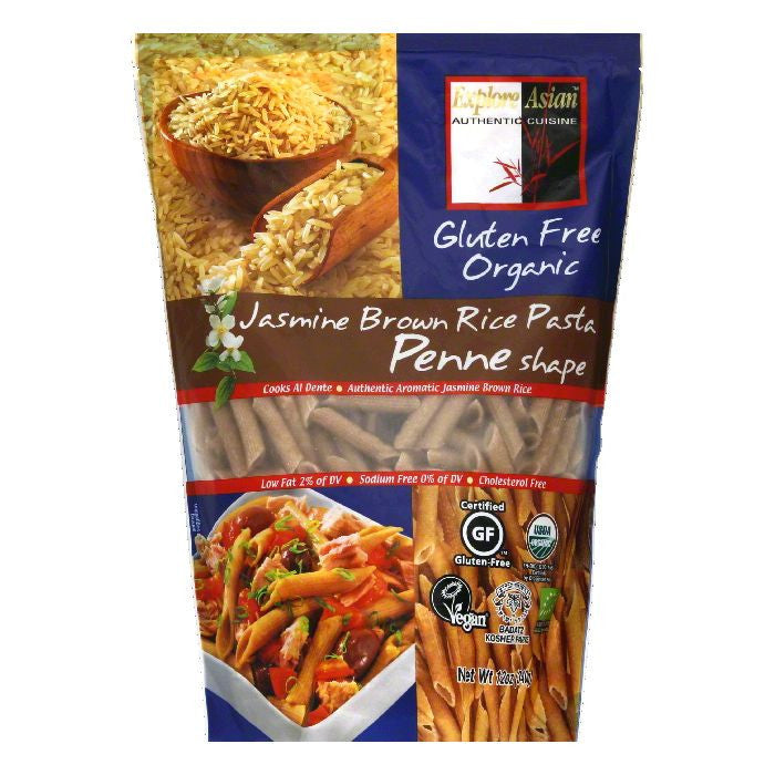 Explore Asian Penne Shape Jasmine Brown Rice Pasta, 12 Oz (Pack of 6)