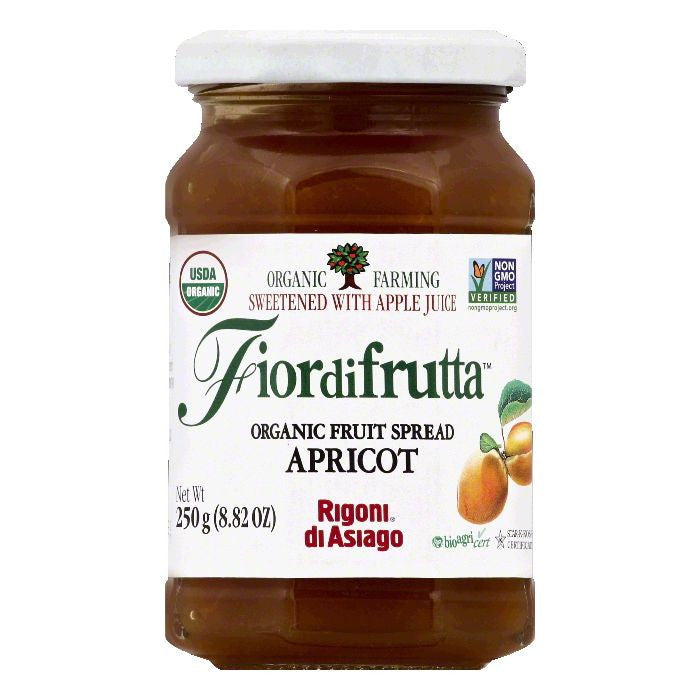 Rigoni Di Asiago Apricot Organic Fruit Spread, 8.82 OZ (Pack of 6)