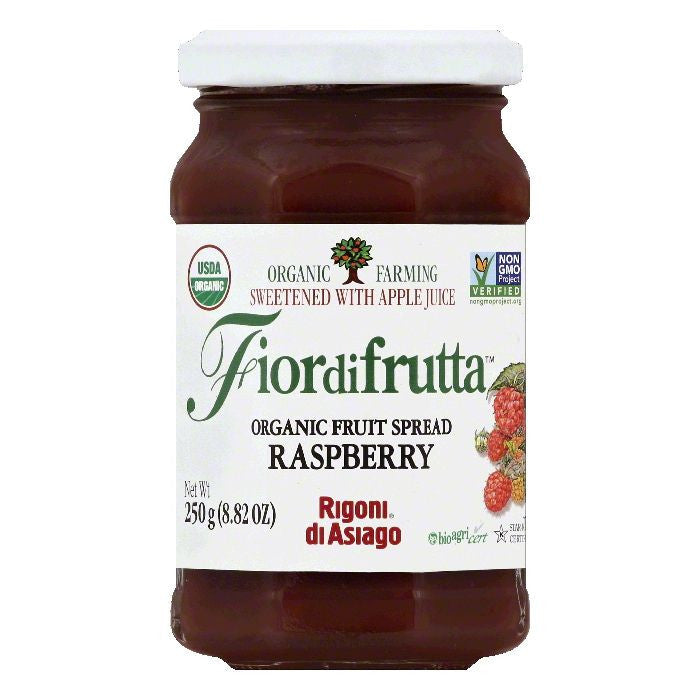 Rigoni Di Asiago Raspberry Organic Fruit Spread, 8.82 OZ (Pack of 6)