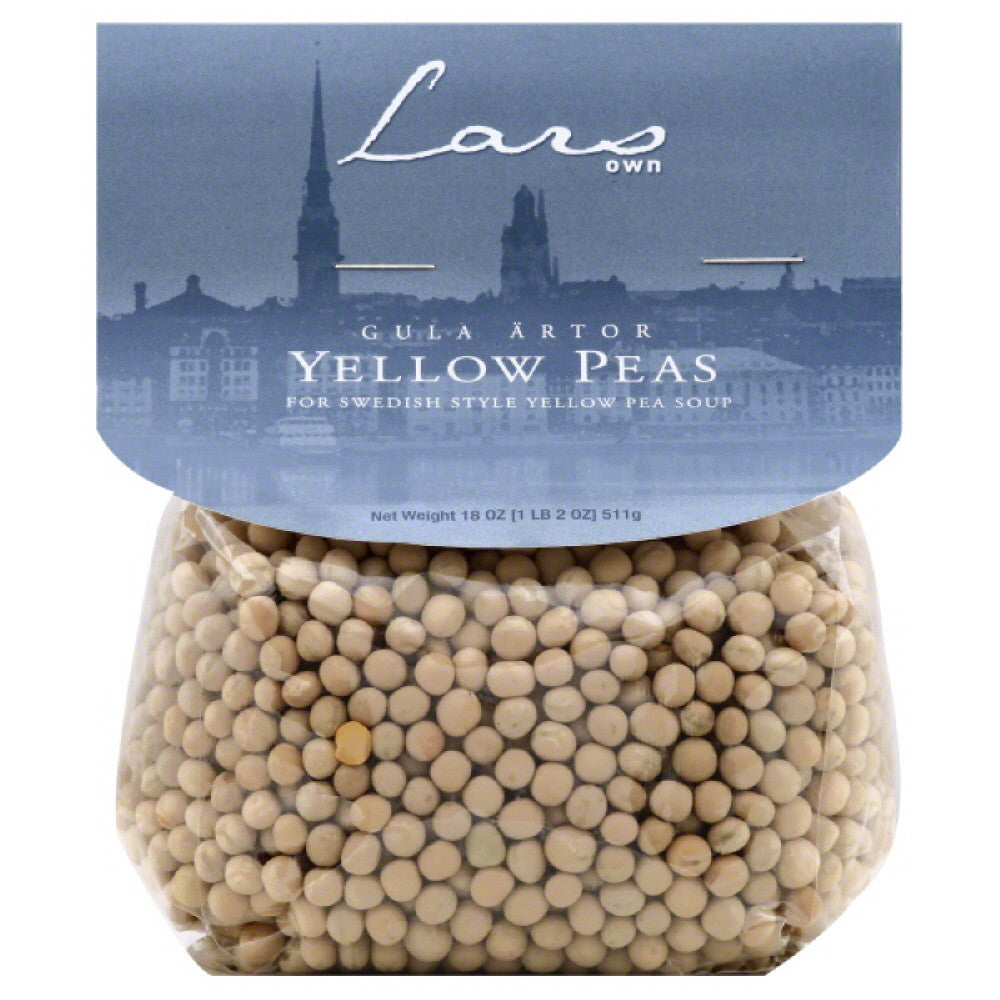 Lars Own Yellow Peas, 18 Oz (Pack of 6)