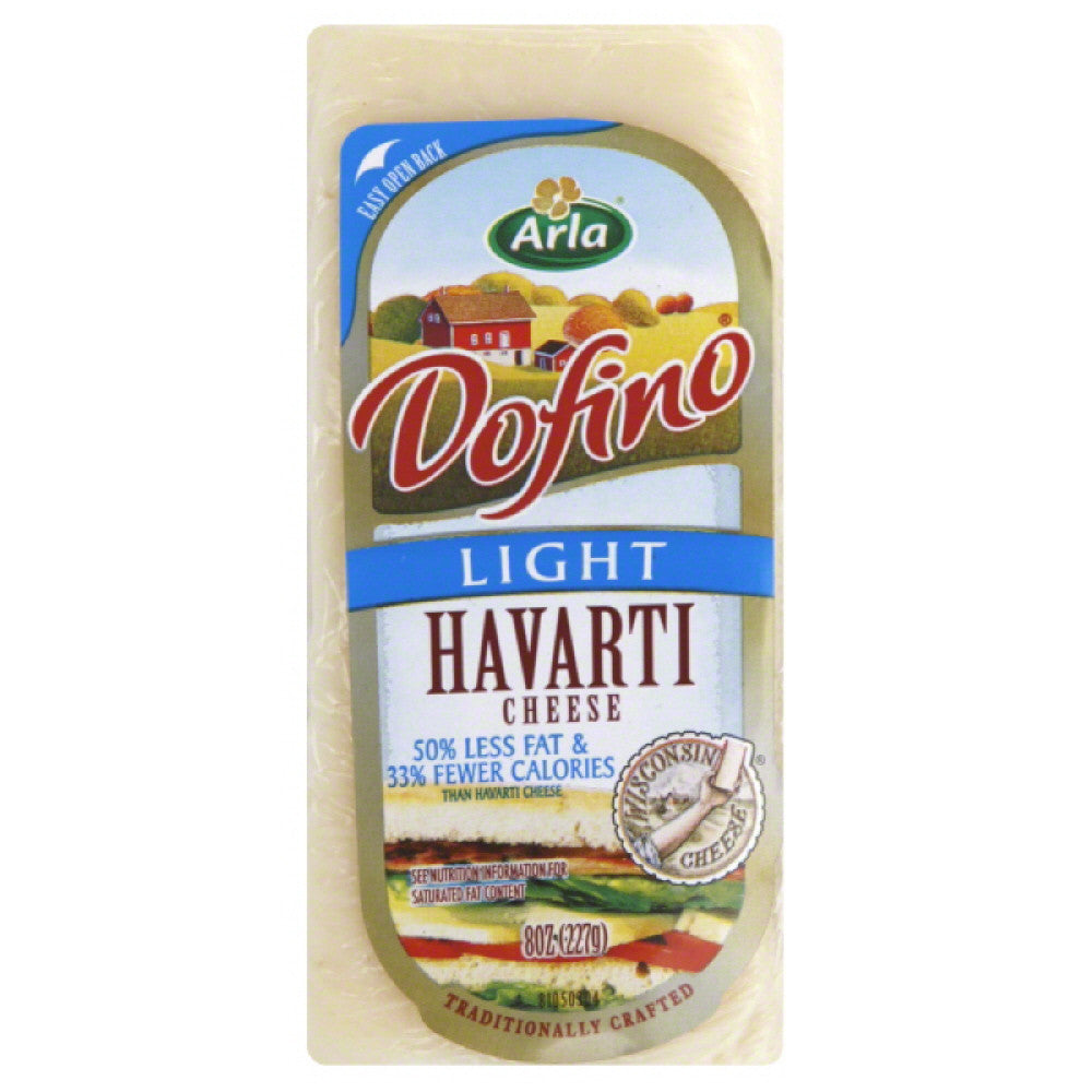 Dofino Light Havarti Cheese, 8 Oz (Pack of 12)