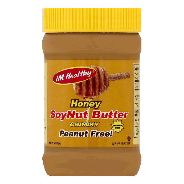 IM Healthy Honey Chunky SoyNut Butter, 15 OZ (Pack of 6)