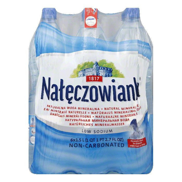 Naleczowianka Mineral Water Non-Carbonated 6 pack, 50.7 OZ