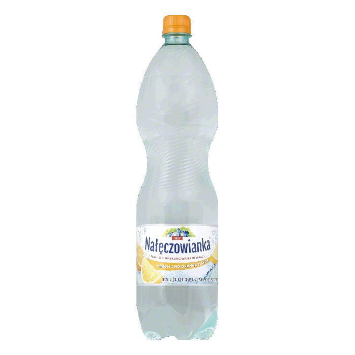 Naleczowianka Lemon and Orange Flavored Sparkling Water Beverage, 1.5 LT (Pack of 6)