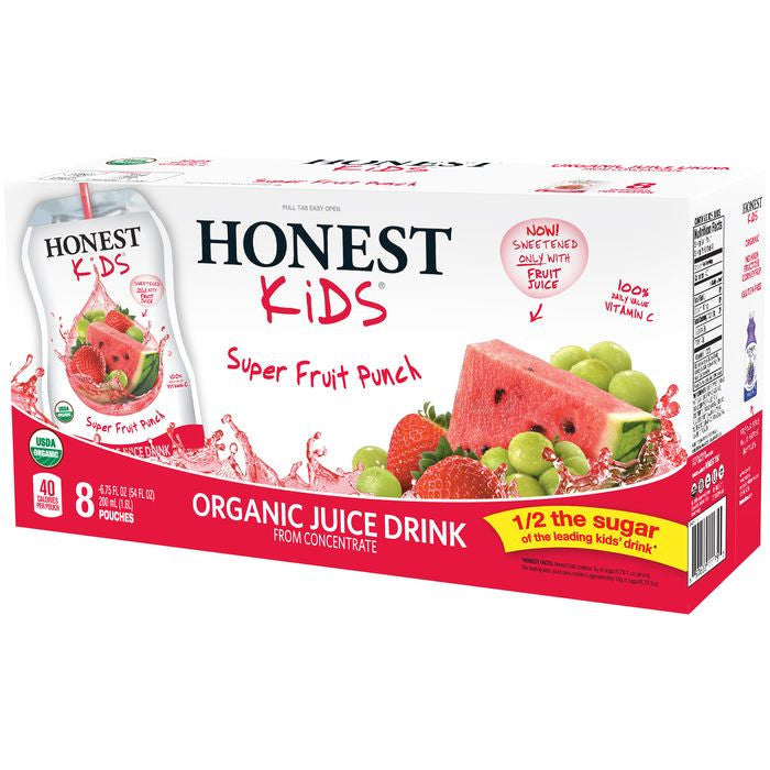 Honest Kids Super Fruit Punch Organic Juice Drink 54 fl. Oz  (Pack of 4)