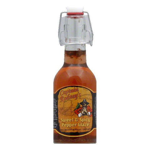 Captain Rodney's Private Reserve Sweet & Spicy Pepper Glaze, 9 OZ (Pack of 6)