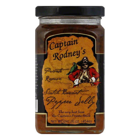 Captain Rodney's Private Reserve Mild Pepper Jelly, 16 OZ (Pack of 6)