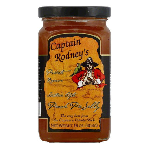 Captain Rodney's Private Reserve Peach Pie Jelly, 16 OZ (Pack of 6)