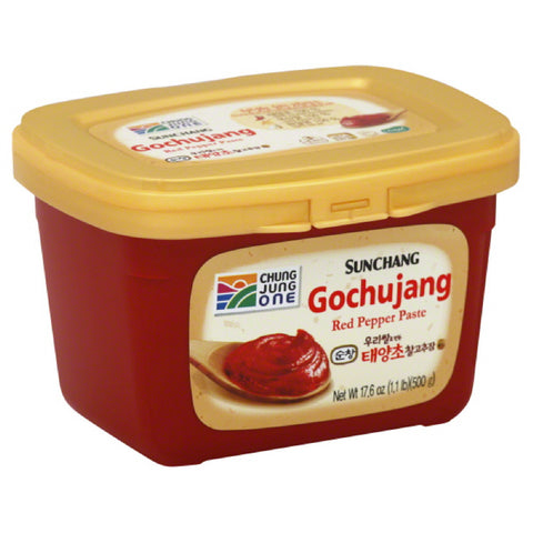 Chung Jung One 3 Medium Hot Sunchang Red Pepper Paste, 17.6 Oz (Pack of 6)