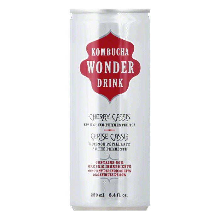 Kombucha Wonder Drink Drink Tea Can Cherry Cassis Organic, 8.4 FO (Pack of 24)
