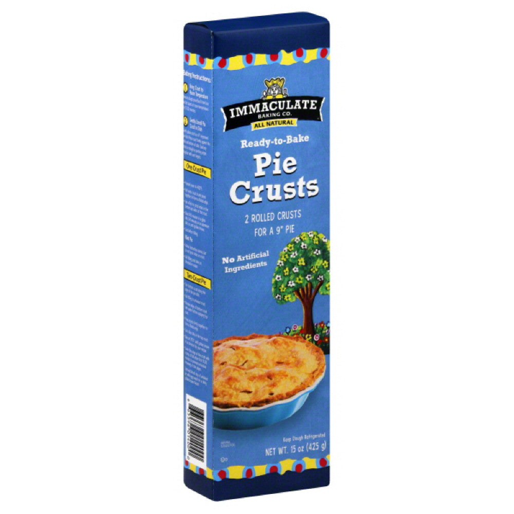 Immaculate 9 Inch Pie Pie Crusts, 15 Oz (Pack of 12)