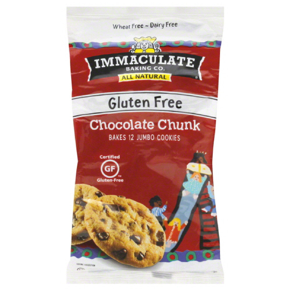 Immaculate Baking Chocolate Chunk Gluten Free Cookie Dough, 14 Oz (Pack of 6)