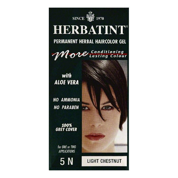 Herbatint Light Chestnut 5N Permanent Herbal Haircolor Gel, 1 ea