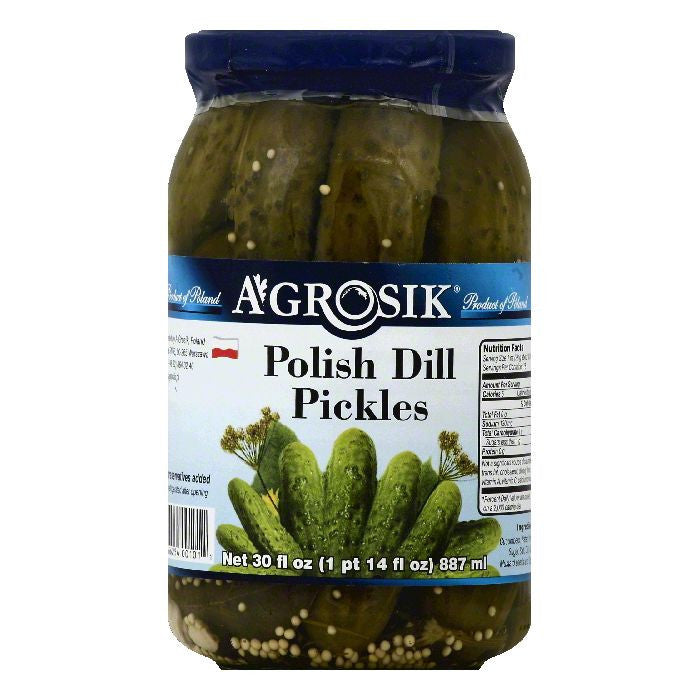 Agrosik Polish Dill Pickles, 30 OZ (Pack of 12)