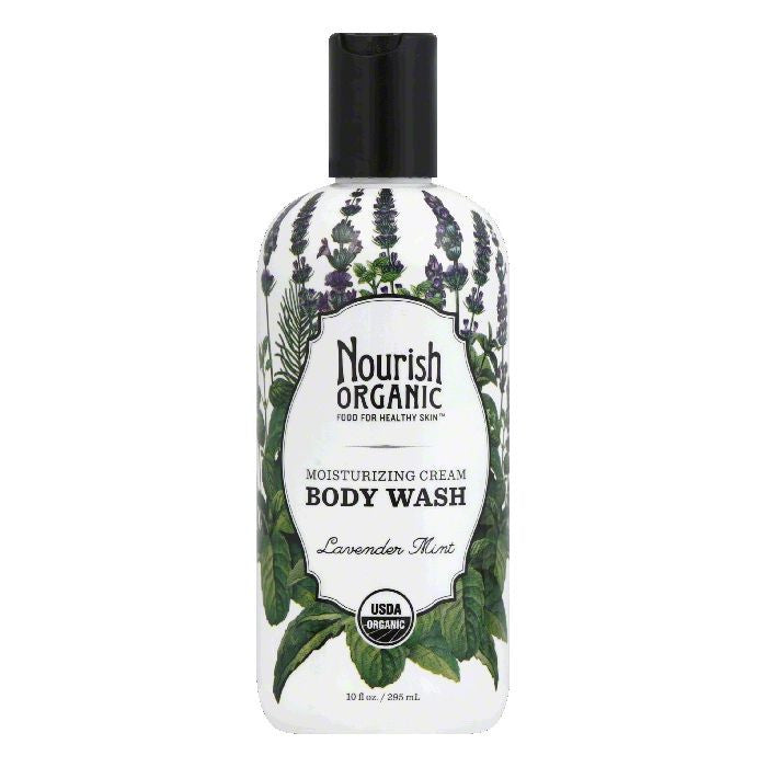 Nourish Organic Lavender Mint Moisturizing Cream Body Wash, 10 Oz