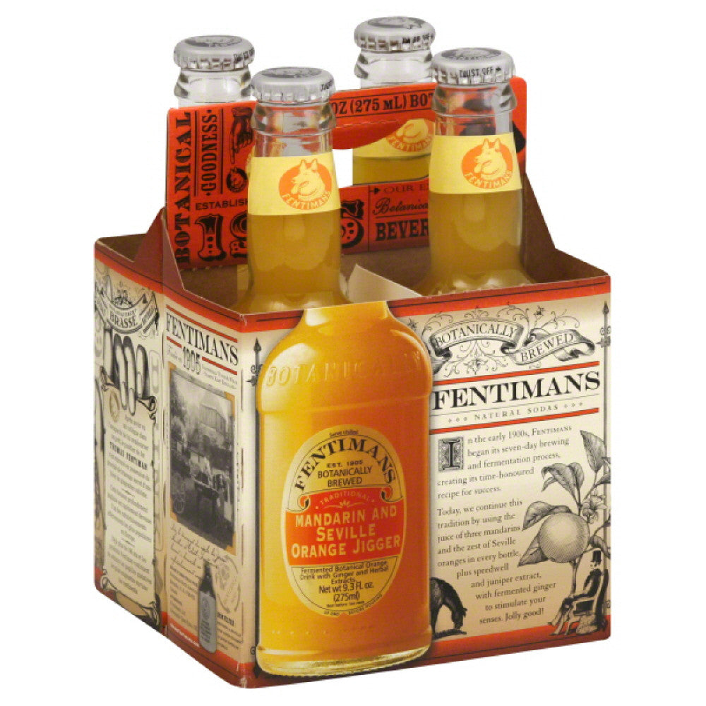 Fentimans Mandarin and Seville Orange Jigger Orange Drink, 37.2 Fo (Pack of 6)