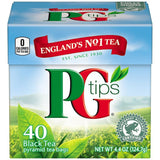 PG Tips Black Tea Pyramid Tea Bags 40 ct  (Pack of 6)