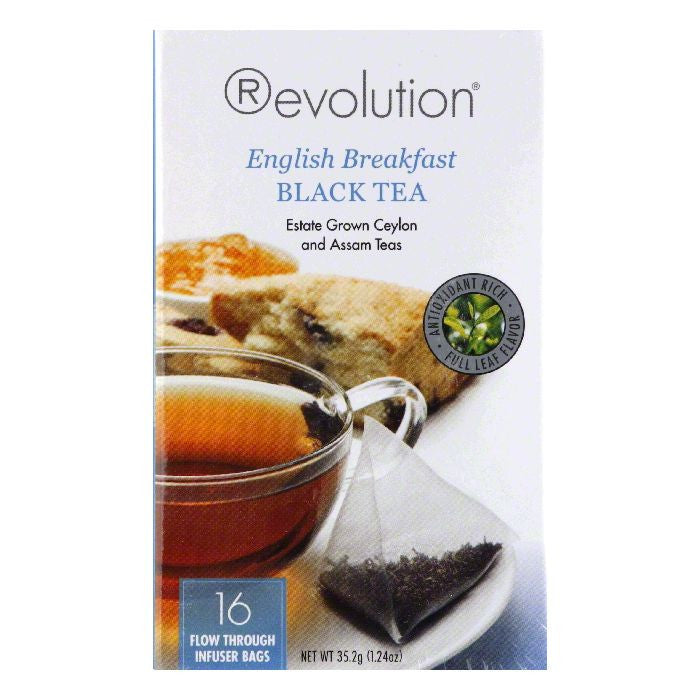 Revolution Tea English Breakfast, 16 BG (Pack of 6)