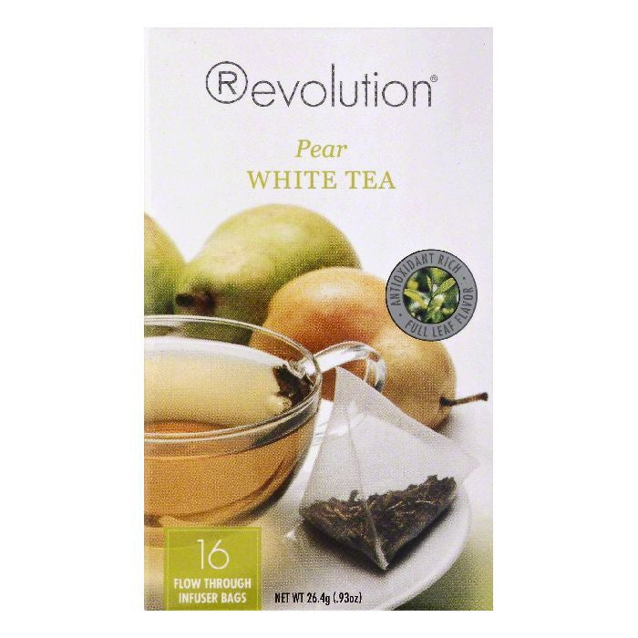 Revolution Infuser Bags Pear White Tea, 16 ea (Pack of 6)