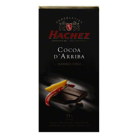 Hachez 77% Cacao Mango-Chili Cocoa D'Arriba, 3.5 OZ (Pack of 10)
