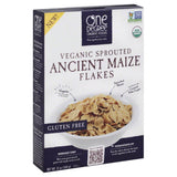 One Degree Organic Foods Veganic Sprouted Ancient Maize Flakes Cereal, 12 Oz (Pack of 6)