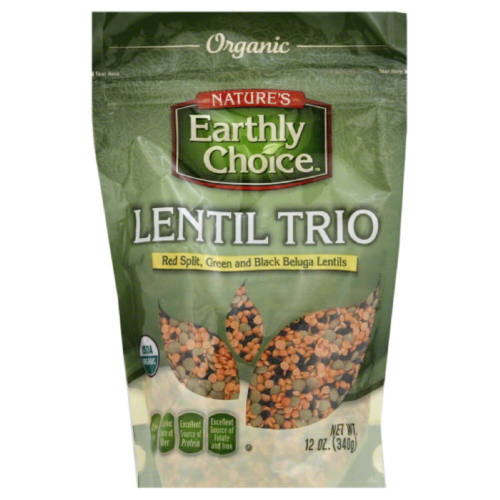 Natures Earthly Choice Organic Lentil Trio, 12 Oz (Pack of 6)
