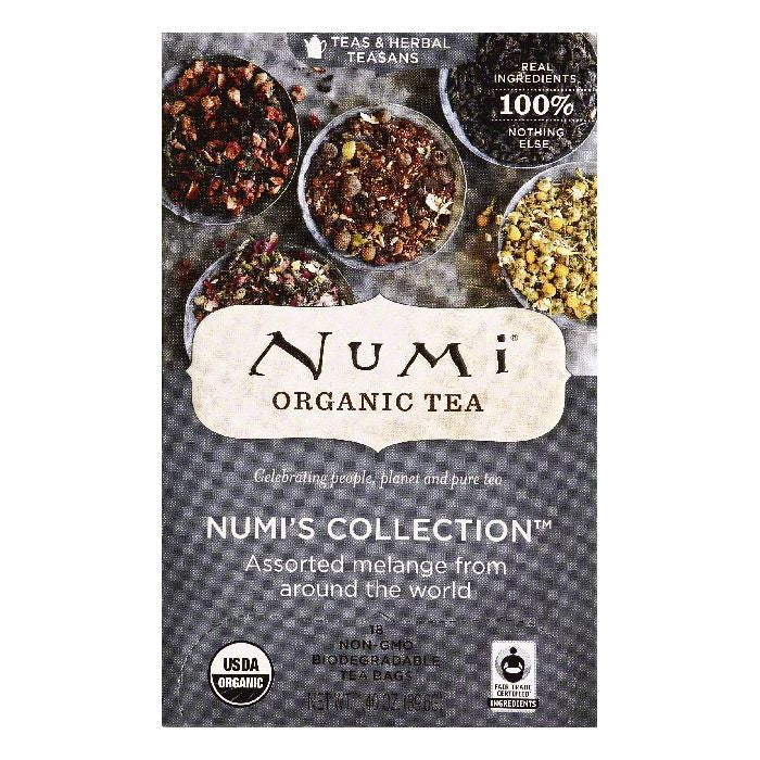 Numi Bags Numi's Collection Teas & Herbal Teasans, 18 ea (Pack of 6)